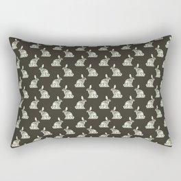 Rabbit Skeleton: Easter Gift Bunny Anatomy Rectangular Pillow