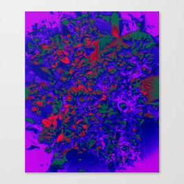 Floral Abstraction in blue Canvas Print