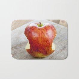 red juicy apple Bath Mat
