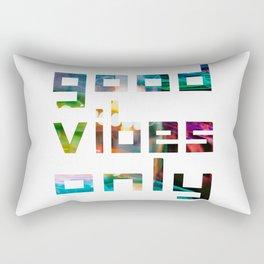 good vibes only // Coachella Rectangular Pillow