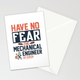have no fear the engineer is here no fear ing Stationery Cards