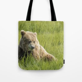 Filling Up on Sedge Grass Tote Bag