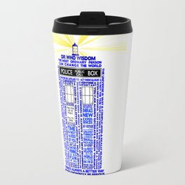 Doctor Who TARDIS Words of Wisdom Travel Mug