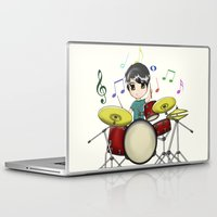 chibi Laptop & iPad Skins featuring Chibi Drummer by Jelo