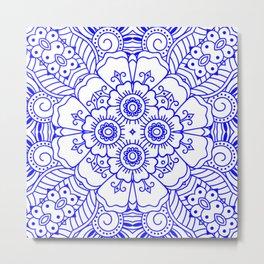 Mindful Mandala Pattern Tile MAPATI 68 Metal Print