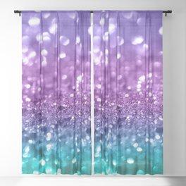Unicorn Girls Glitter #19 #shiny #decor #art #society6 Sheer Curtain