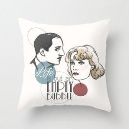 Empty Bubble Throw Pillow
