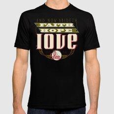 The Greatest of These Is Love (Color Variant)  Mens Fitted Tee Black MEDIUM