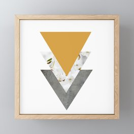 Blossoms Mango Mojito Arrows Collage Framed Mini Art Print
