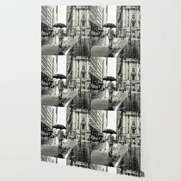 Wet Pavement NYC Wallpaper