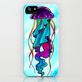 Watercolor Jellyfish iPhone Case
