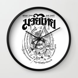 Garuda Muay Thai Tattoo Wall Clock