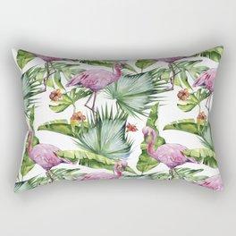 Flamingo Jungle #society6 #buyart Rectangular Pillow