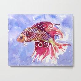 Fish Swirl Metal Print