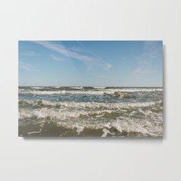 Folly Beach Waves Metal Print