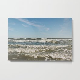 Folly Beach Waves Metal Print
