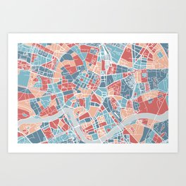 Krakow map Art Print