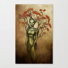 Crimson Dryad Canvas Print