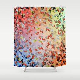 Teardrop Leaves Shower Curtain