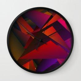 Smoke Screen Abstract 1 Wall Clock