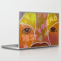 best friend Laptop & iPad Skins featuring Best Friend by Roger Wedegis