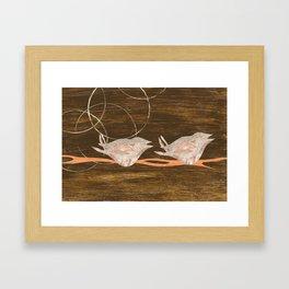 Birds Resting Framed Art Print