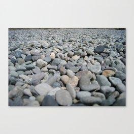Stones at the Lake Canvas Print
