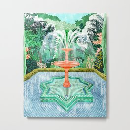 The Fountain Of Life #painting #nature Metal Print