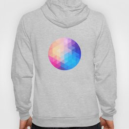 pink  triangles design Hoody