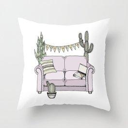 Couchella Throw Pillow