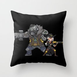 ashe and bob Throw Pillow