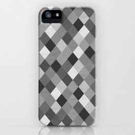 Black and White Harlequin iPhone Case