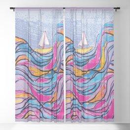 Sailing 3 Sheer Curtain