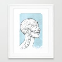 grid Framed Art Prints featuring Grid by isberg illustration