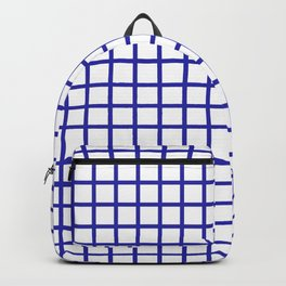 Grid (Navy & White Pattern) Backpack
