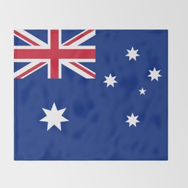 The National flag of Australia, authentic version (color & scale 1:2) Throw Blanket