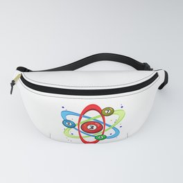 Awesome Billiards Ball Atom Science Pool Player Fanny Pack