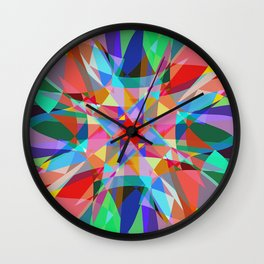 Multicolored Kaleidescope Abstract Wall Clock