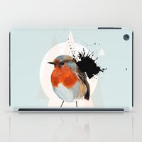 robin iPad Cases featuring Robin by Stroke a Bird