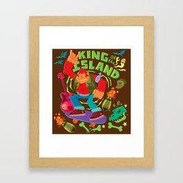 King of the Island Framed Art Print