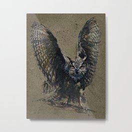Owl background Metal Print