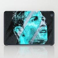 ronaldo iPad Cases featuring Cristiano Ronaldo Illustration by Nijaz Muratovic