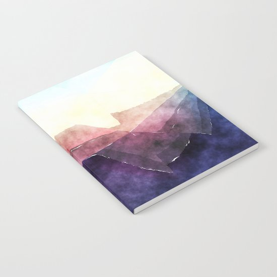 In the sea- abstract watercolor - triangle pattern Notebook