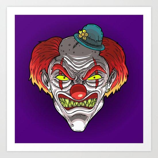 Badass Clown Art Print