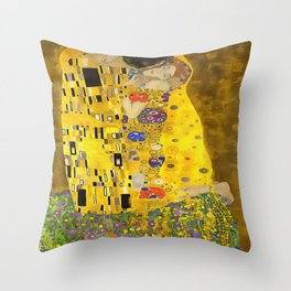 The Lovers Kiss After Klimt Throw Pillow