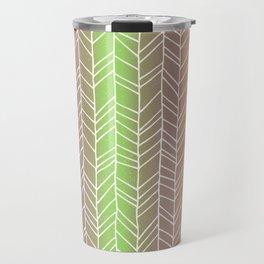 Colorful Rainbow Feather Pattern Travel Mug