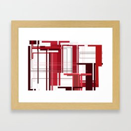 T Time Abstract Typography Framed Art Print