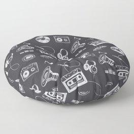 Discjockey Pattern | DJ Music Vinyl Turntables Floor Pillow