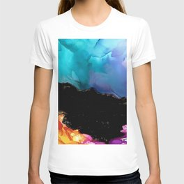 Mountainside Abstract T-shirt