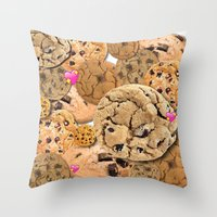 cookies Throw Pillows featuring Cookies by jajoão
